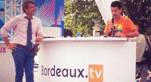 Photo - La WebTV Bordeaux.tv sur le plateau de La Fête du Vin - Présentation Kyril Cousew